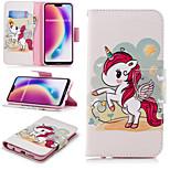 Недорогие -Кейс для Назначение Huawei P20 Pro / P20 lite Кошелек / Бумажник для карт / со стендом Чехол единорогом Твердый Кожа PU для Huawei P20 /