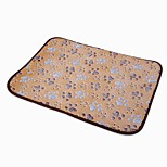 cheap -Dogs / Cats / Pets Bed / Beds / Gasket Pet Mats & Pads Color Block / Flower / Floral / Footprint / Paw Portable / Breathable / Soft