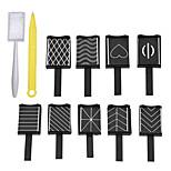 Недорогие -11pcs маникюр Инструменты сделай-сам / Инструменты рисования Neon & Bright Несколько цветов Повседневные Прочие инструменты