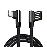 cheap -Type-C USB Cable Adapter Quick Charge / High Speed / Braided Cable For Samsung / Huawei / LG 100cm Aluminum / Nylon
