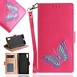 cheap -Case For Sony Xperia XZ Card Holder / Wallet / with Stand Full Body Cases Butterfly Hard PU Leather for Sony Xperia XZ