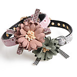 cheap -Dogs / Cats Collar Foldable / Decoration Flower / Floral PU Leather / Polyurethane Leather Gray / Pink