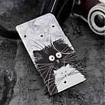 cheap -Case For Motorola Moto G6 Plus / MOTO G6 Card Holder / Wallet / with Stand Full Body Cases Cat Hard PU Leather for Moto G6 Plus / MOTO G6