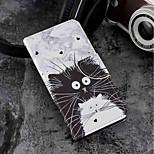 Недорогие -Кейс для Назначение Motorola Moto G6 Plus / MOTO G6 Бумажник для карт / Кошелек / со стендом Чехол Кот Твердый Кожа PU для Moto G6 Plus /