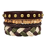 cheap -Layered / Stack Leather Bracelet - Fashion, Multi Layer Bracelet Brown For Ceremony / Street