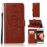 Недорогие -Кейс для Назначение Huawei P10 Plus Кошелек / Бумажник для карт / со стендом Чехол Сова Твердый Кожа PU для P10 Plus