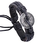 cheap -Men's Leather Bracelet - Leather Ethnic, Fashion Bracelet Black / Coffee For Daily / Ceremony