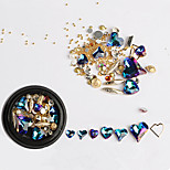 Недорогие -1 pcs Украшения для ногтей горный хрусталь Стиль кристалла / горного хрусталя На каждый день Дизайн ногтей