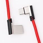 preiswerte -Typ-C USB-Kabeladapter Geflochten / Schnelle Aufladung Kabel Für Samsung / Huawei / Nokia 168cm Textil