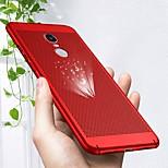Недорогие -Кейс для Назначение Xiaomi Redmi Note 4X / Redmi Note 4 Ультратонкий Кейс на заднюю панель Однотонный Твердый ПК для Xiaomi Redmi Note 4X