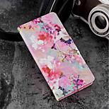 Недорогие -Кейс для Назначение Xiaomi Mi 6X / Mi 5X Кошелек / Бумажник для карт / со стендом Чехол Цветы Твердый Кожа PU для Xiaomi Mi 6X(Mi A2) /