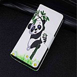 cheap -Case For Huawei P20 lite P20 Card Holder Wallet with Stand Flip Magnetic Full Body Cases Panda Hard PU Leather for Huawei P20 lite Huawei