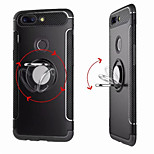 cheap -Case For OnePlus 5 / OnePlus 5T Ring Holder Back Cover Solid Colored Hard PC for One Plus 5 / OnePlus 5T