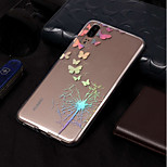 Недорогие -Кейс для Назначение Huawei P20 lite / P20 Pro IMD / С узором Кейс на заднюю панель одуванчик Мягкий ТПУ для Huawei P20 lite / Huawei P20