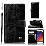 Недорогие -Кейс для Назначение Xiaomi Mi 5s Кошелек / Бумажник для карт / со стендом Чехол Однотонный Твердый Кожа PU для Xiaomi Mi 5s