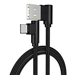 cheap -Type-C USB Cable Adapter Quick Charge / High Speed Cable For Samsung / Huawei / LG 100cm Aluminum / TPE