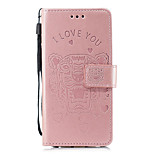 cheap -Case For Huawei P20 lite / P20 Card Holder / Wallet / with Stand Full Body Cases Animal Hard PU Leather for Huawei P20 lite / Huawei P20