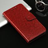 Недорогие -Кейс для Назначение Huawei P20 / P20 lite Кошелек / Бумажник для карт / со стендом Чехол Однотонный Твердый Кожа PU для Huawei P20 /