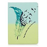 cheap -Case For Apple iPad (2017) iPad Pro 9.7 Card Holder Wallet with Stand Pattern Auto Sleep / Wake Up Full Body Cases Feathers Hard PU