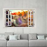 Недорогие -Декоративные наклейки на стены / Наклейки на холодильник - 3D наклейки Пейзаж / 3D Гостиная / Кабинет / Офис