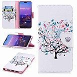 cheap -Case For Huawei P20 lite P20 Pro Card Holder Wallet with Stand Flip Pattern Full Body Cases Butterfly Tree Hard PU Leather for Huawei P20