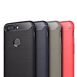 Недорогие -Кейс для Назначение OnePlus OnePlus 5T Ультратонкий Кейс на заднюю панель Однотонный Мягкий ТПУ для OnePlus 5T