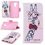 cheap -Case For LG K10 2018 / G7 Card Holder / Wallet / with Stand Full Body Cases Animal Hard PU Leather for LG V30 / LG V20 / LG Q6