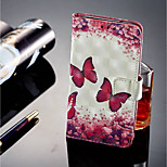 cheap -Case For Sony Xperia XZ2 / Xperia XZ2 Compact Card Holder / Wallet / with Stand Full Body Cases Butterfly Hard PU Leather for Sony Xperia
