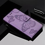 Недорогие -Кейс для Назначение OPPO F5 Кошелек / Бумажник для карт / со стендом Чехол Бабочка Твердый Кожа PU для Oppo F5