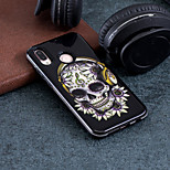 preiswerte -Hülle Für Huawei P20 / P20 lite Muster Rückseite Totenkopf Motiv Hart PC für Huawei P20 / Huawei P20 lite / P10 Lite