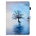 Недорогие -Кейс для Назначение Apple iPad (2017) iPad 4/3/2 Бумажник для карт со стендом Флип Чехол Растения дерево Твердый Кожа PU для iPad Mini 4