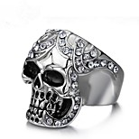 cheap -Skull Knuckle Ring - Geometric Vintage Silver Ring For Party / Gift