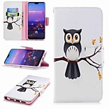 cheap -Case For Huawei P20 lite P20 Pro Card Holder Wallet with Stand Flip Pattern Full Body Cases Tree Owl Hard PU Leather for Huawei P20 lite