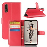 cheap -Case For Huawei P20 Pro P20 Card Holder Wallet Flip Magnetic Full Body Cases Solid Colored Hard PU Leather for Huawei P20 lite Huawei P20