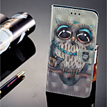 Недорогие -Кейс для Назначение Huawei P20 lite P20 Pro Бумажник для карт Кошелек со стендом Флип Магнитный Чехол Сова Твердый Кожа PU для Huawei P20