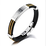 cheap -Men's 1 Bangles - Fashion Circle Gold Silver Bracelet For Gift Daily