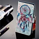 Недорогие -Кейс для Назначение Sony Xperia XZ2 / Xperia XZ2 Compact Бумажник для карт / Кошелек / со стендом Чехол Ловец снов Твердый Кожа PU для