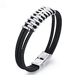 cheap -Men's 1 Bangles - Fashion Geometric Black Bracelet For Gift Daily