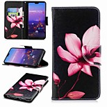 cheap -Case For Huawei P20 lite P20 Pro Card Holder Wallet with Stand Flip Pattern Full Body Cases Flower Hard PU Leather for Huawei P20 lite
