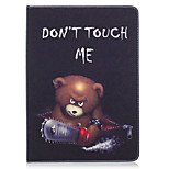 cheap -Case For Apple iPad (2017) iPad Pro 9.7 Card Holder Wallet with Stand Pattern Auto Sleep / Wake Up Full Body Cases Animal Hard PU Leather