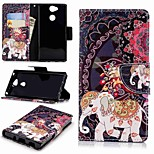 cheap -Case For Sony Sony Xperia XA2 / Xperia L2 Wallet / Card Holder / with Stand Full Body Cases Elephant Hard PU Leather for Sony Xperia XA2