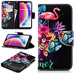 Недорогие -Кейс для Назначение Huawei P20 Pro / P20 lite Кошелек / Бумажник для карт / со стендом Чехол Фламинго Твердый Кожа PU для Huawei P20 /