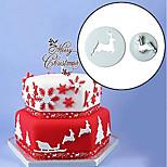Недорогие -Инструменты для выпечки пластик Творчество / Новогодняя тематика / Своими руками Печенье / Шоколад / Для торта Инструменты для выпечки / Формы для нарезки печенья 2pcs