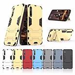 Недорогие -Кейс для Назначение Huawei P20 lite / P20 Защита от удара / со стендом Кейс на заднюю панель броня Твердый ПК для Huawei P20 lite /