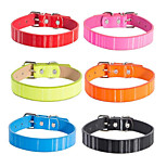 cheap -Dogs / Cats Collar Foldable / Solid / For Dog / Cat Solid Colored PU Leather / Polyurethane Leather Black / Blue / Pink