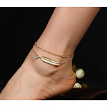 cheap -Turquoise Geometric Anklet - Wings Double Layered Gold / Silver For Daily / Women's