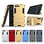 Недорогие -Кейс для Назначение Sony Xperia X compact со стендом Кейс на заднюю панель Однотонный Твердый ПК для Sony Xperia X compact