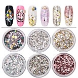 Недорогие -6 pcs Украшения для ногтей Цветной / Гель для ногтей Формы для ногтей Модный дизайн / Цветной На каждый день