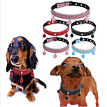 cheap -Dogs / Rabbits / Cats Collar / Dog Training Collars / Necklace Portable / Mini / Trainer Solid Colored Genuine Leather Red / Blue / Pink