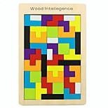 Недорогие -Деревянные пазлы Творчество / Геометрический узор деревянный 42 pcs дошкольный Все Подарок